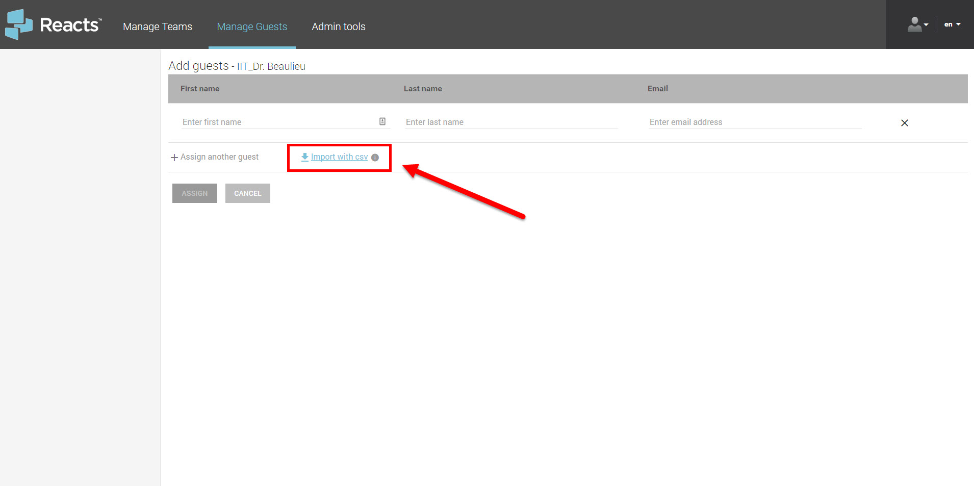 ec54b6e2 Reacts Dashboard to Manage Guests Subscriptions – IIT